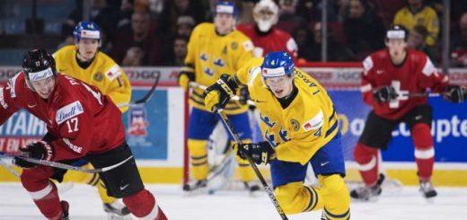 Sverige mot Schweiz VM-kvartsfinalen